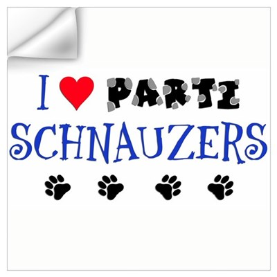 I Love Parti Schnauzers 1.0 Wall Decal