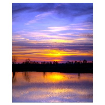 Delta Peaceful Sunset Poster