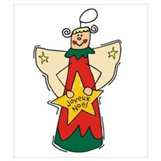 Joyeux Noel Angel Canvas Art