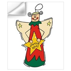 Joyeux Noel Angel Wall Decal