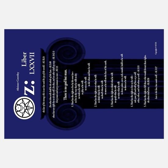 """Liber Oz 35x23"""" - Lapis"""