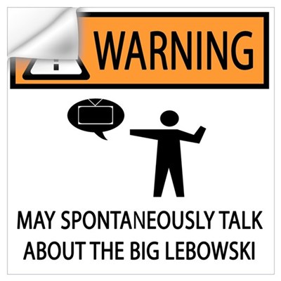 Talks About the Big Lebowski Wall Decal