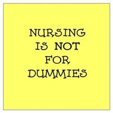Nursing is NOT for dummies Poster