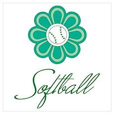 Flowerboom Softball Poster