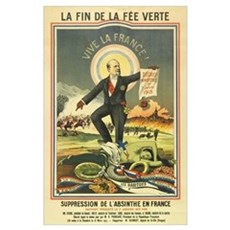 French Absinthe Prohibition Poster