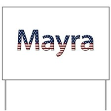 Mayra Stars and Stripes Yard Sign