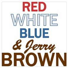 Red, White, Blue & Brown 2 Poster