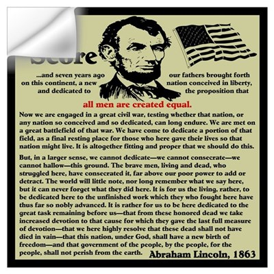 """Gettysburg Address"" Wall Decal"