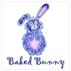 Baked Bunny design Poster