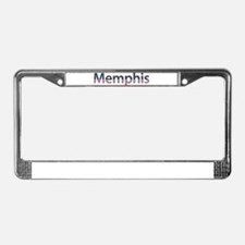 Memphis Stars and Stripes License Plate Frame