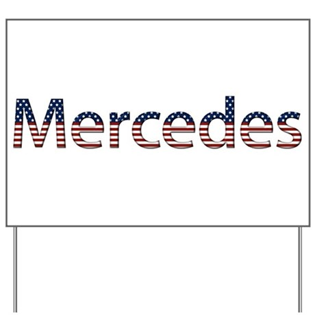 Mercedes Stars and Stripes Yard Sign