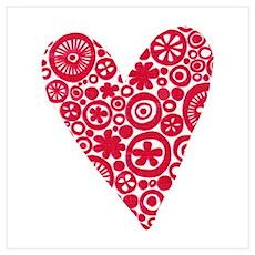 Crop Circles Heart Poster
