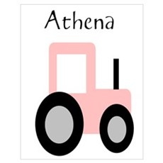 Athena - Pink Tractor Poster