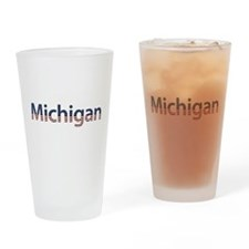 Michigan Stars and Stripes Drinking Glass