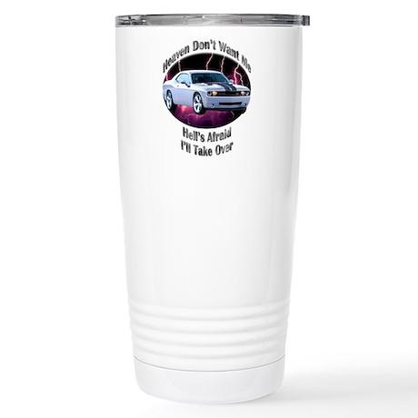 Dodge Challenger SRT8 Stainless Steel Travel Mug