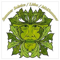The Greenman of the Summer Solstice Poster