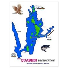 Quabbin Map & Story Canvas Art