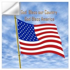 God Bless America 1 Wall Decal