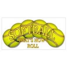 Softballs roll Poster