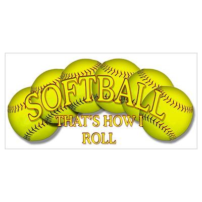 Softballs roll Poster