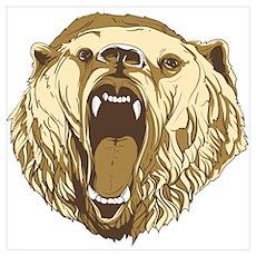 Bear Roaring Poster
