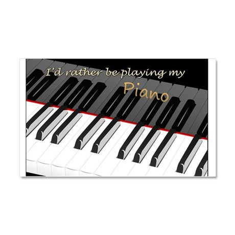 Playing My Piano Car Magnet 20 x 12
