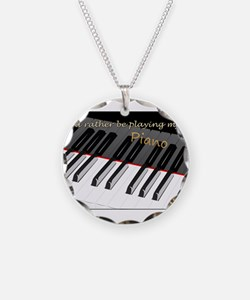 Playing My Piano Necklace