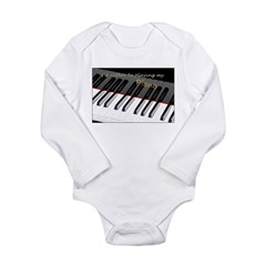Playing My Piano Long Sleeve Infant Bodysuit