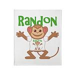 Little Monkey Randon Throw Blanket