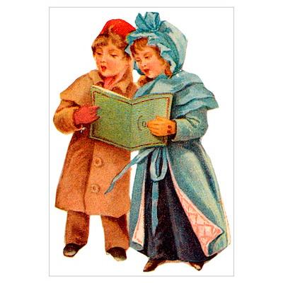 Christmas Caroling Poster