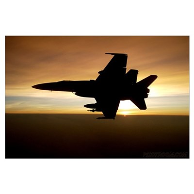 Hornet Sundown Canvas Art