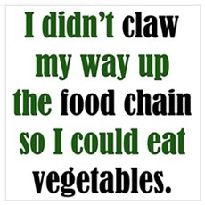 Vegetable Claw Poster