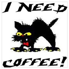 I NEED COFFEE! Framed Print