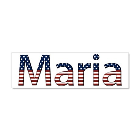 Maria Stars and Stripes 10x3 Car Magnet