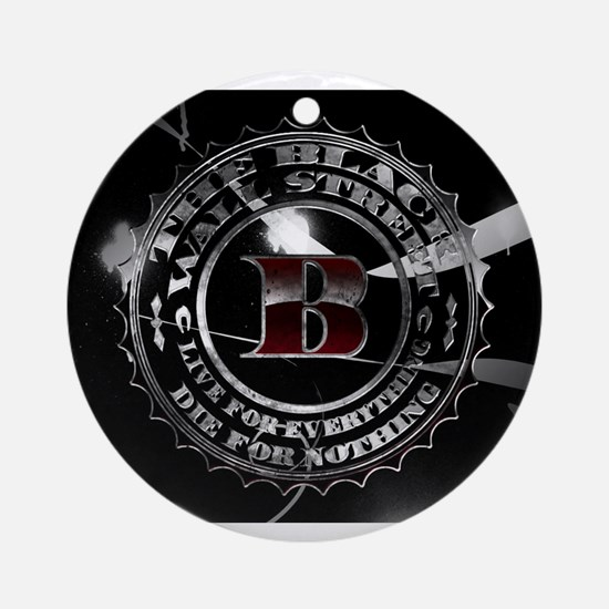 Black Wall Street Ornament (Round)