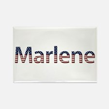 Marlene Stars and Stripes Rectangle Magnet
