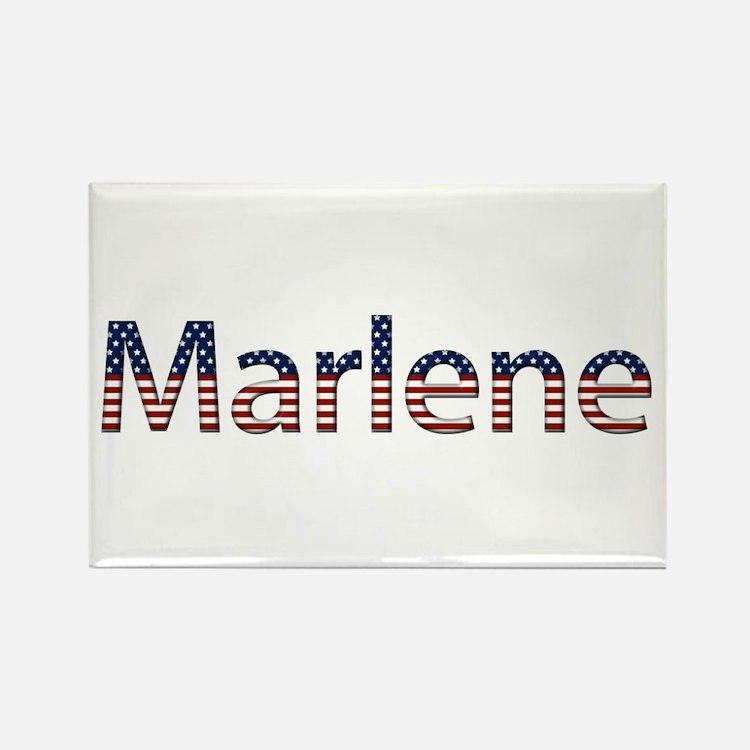 Marlene Stars and Stripes Rectangle Magnet