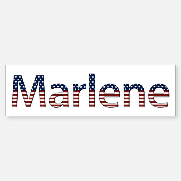 Marlene Stars and Stripes Bumper Bumper Bumper Sticker