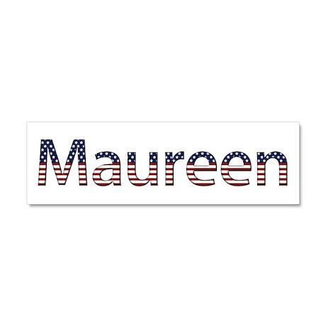 Maureen Stars and Stripes 10x3 Car Magnet