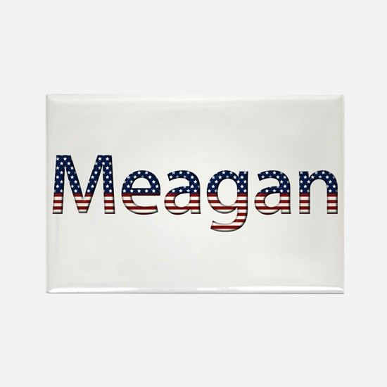 Meagan Stars and Stripes Rectangle Magnet