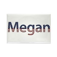 Megan Stars and Stripes Rectangle Magnet