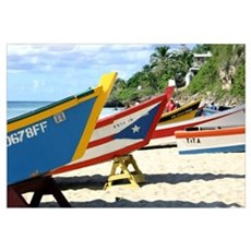 Fishing boats, Puerto Rico Poster