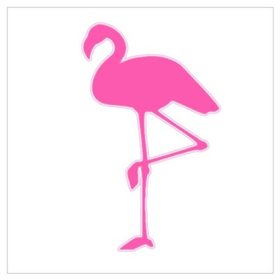 Pink Flamingo Canvas Art
