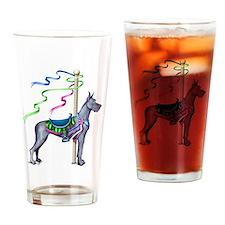 Great Dane Blue Carousel Drinking Glass