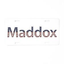 Maddox Stars and Stripes Aluminum License Plate