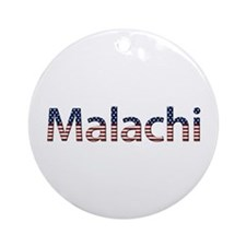Malachi Stars and Stripes Round Ornament