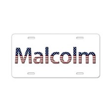 Malcolm Stars and Stripes Aluminum License Plate