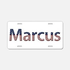 Marcus Stars and Stripes Aluminum License Plate
