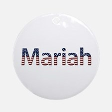 Mariah Stars and Stripes Round Ornament