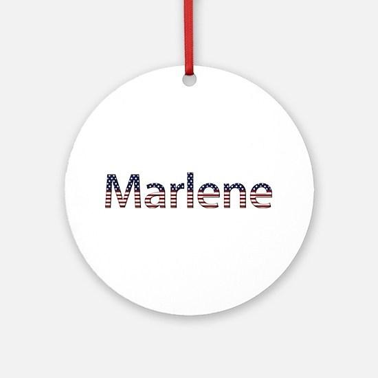 Marlene Stars and Stripes Round Ornament